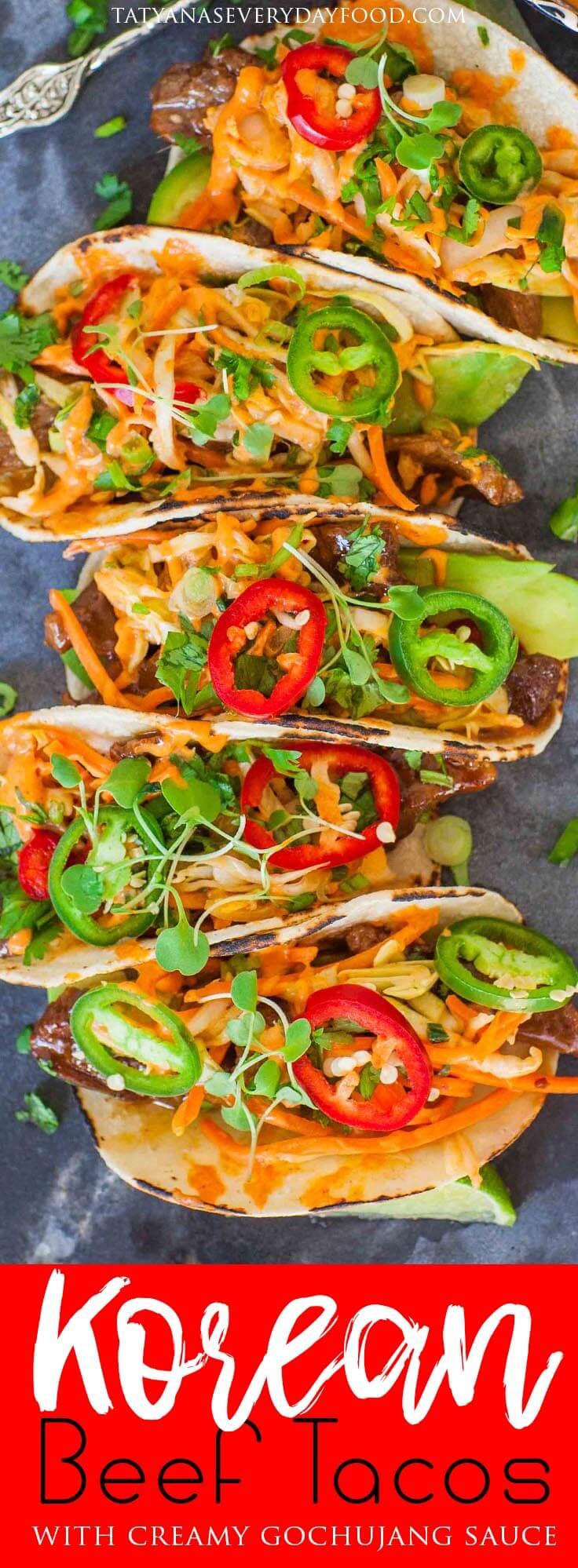 Korean Beef Tacos video recipe