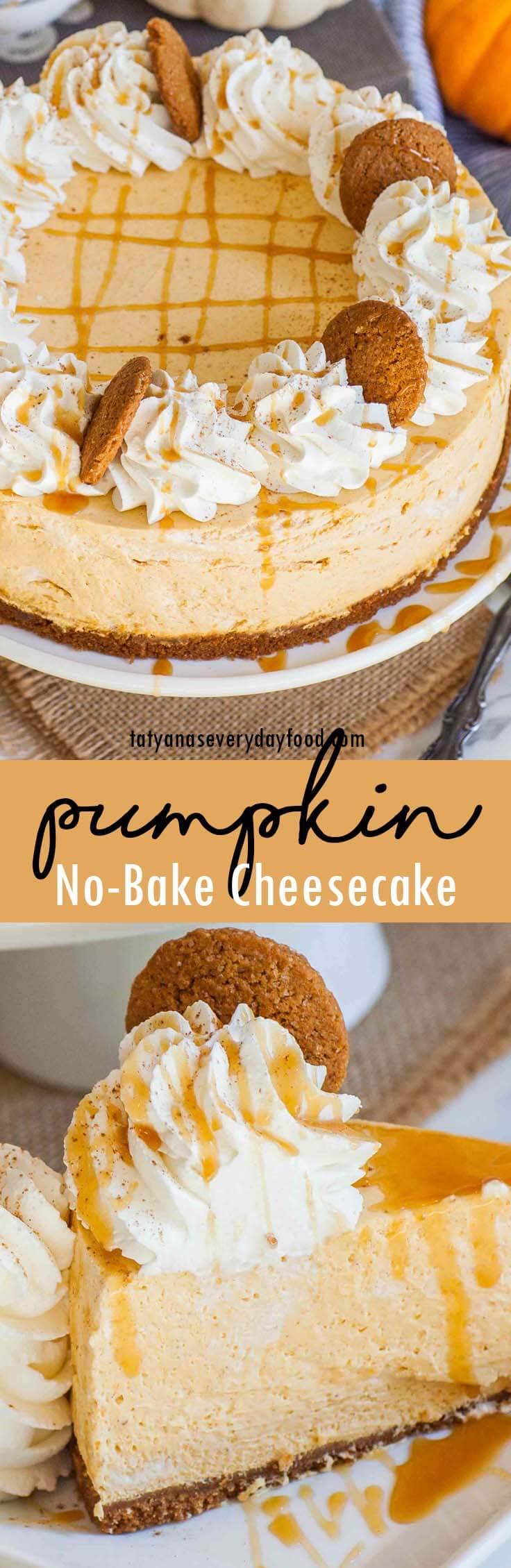 No-Bake Pumpkin Cheesecake video recipe