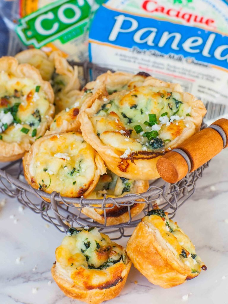 Spinach Cheese Tartlets