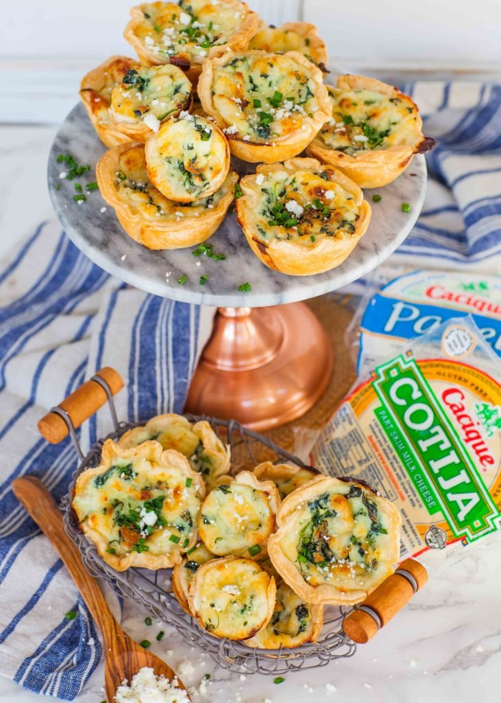 Cheese Spinach Tartlets