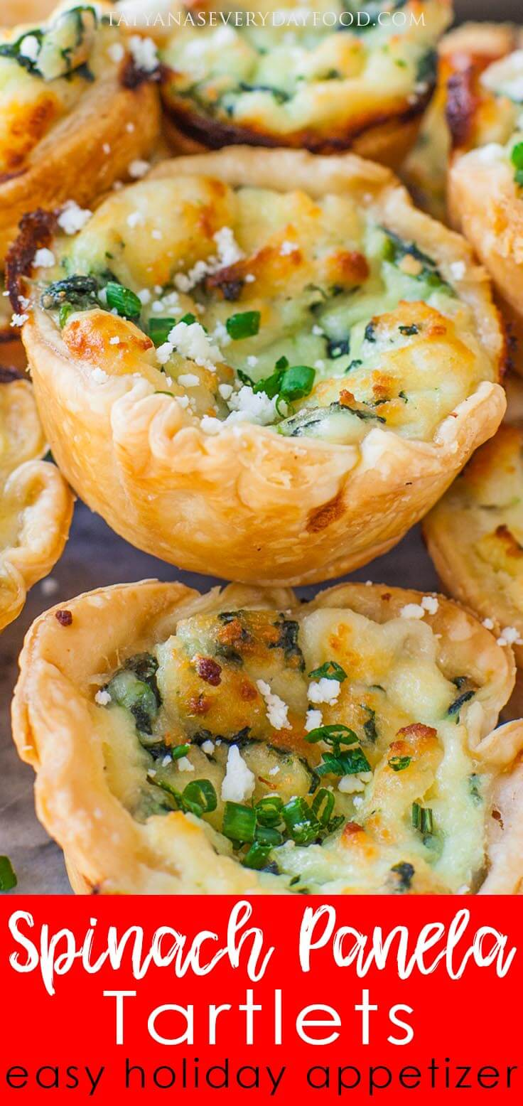Spinach Panela Tartlets video recipe