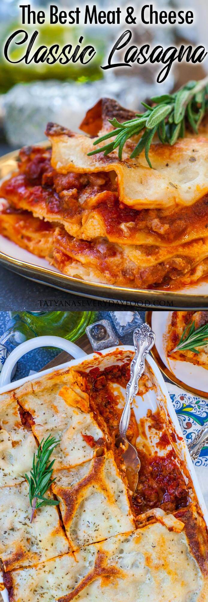 The Best Meat and Cheese Lasagna