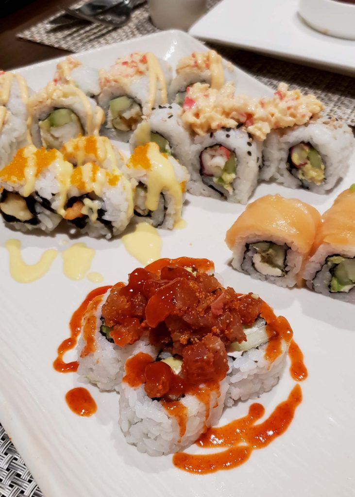Secrets Playa Mujeres sushi assortment