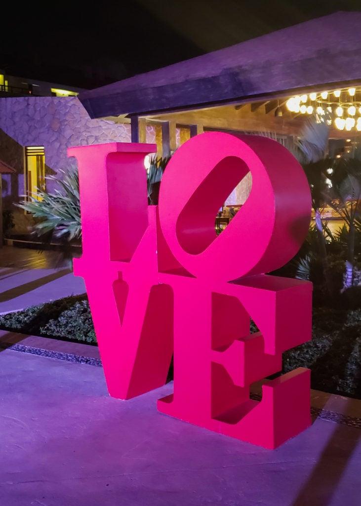 LOVE sign at Secrets Playa Mujeres