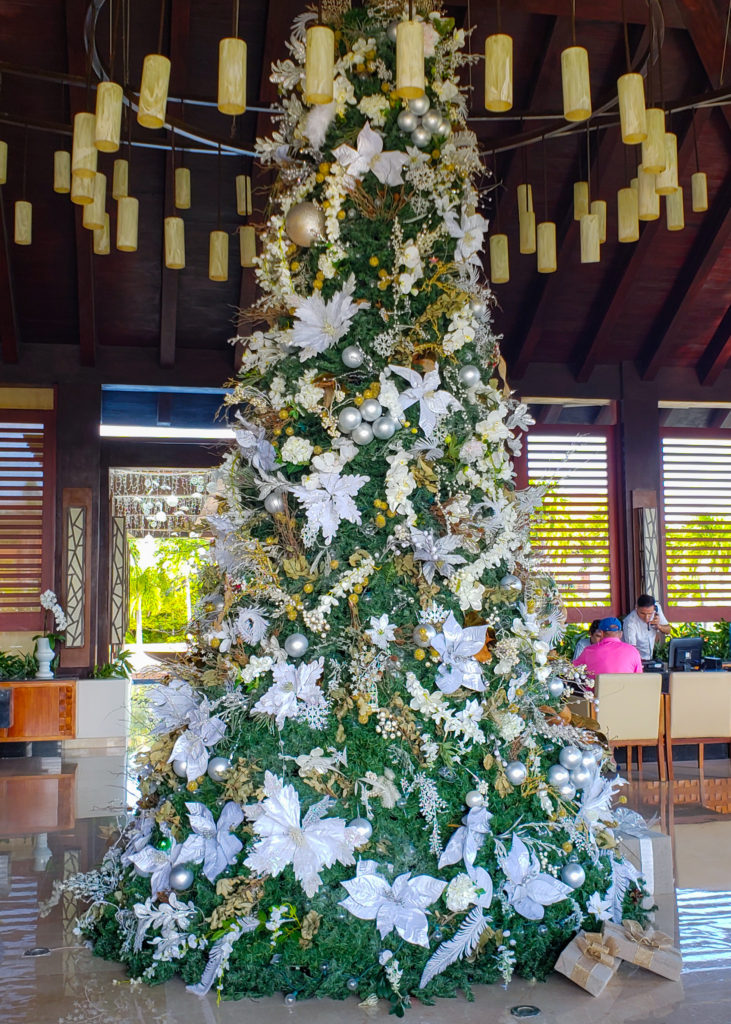white Christmas tree in Mexico