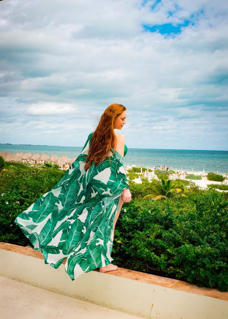 beautiful green coverup for the beach