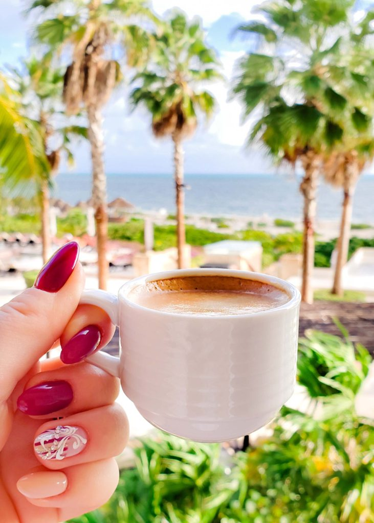 morning coffee with ocean view