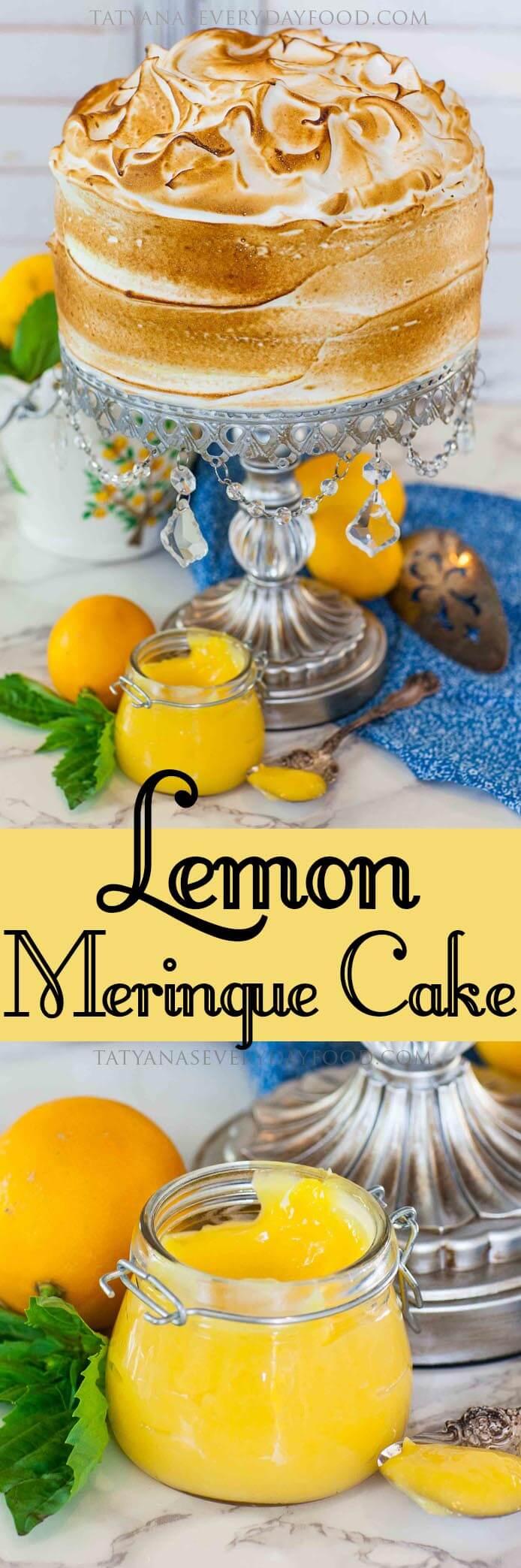 Lemon Meringue Cake with video recipe