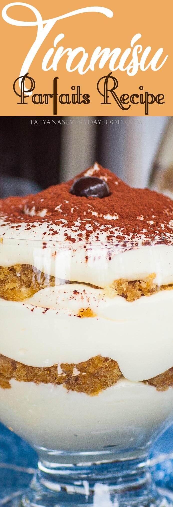 Easy Tiramisu Parfaits Recipe with video