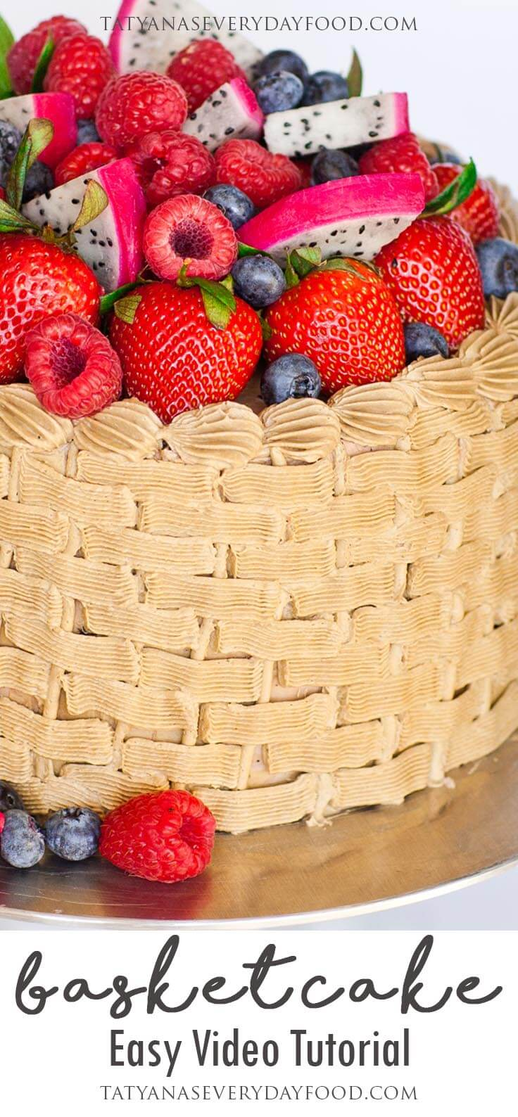 Basket Weave Cake Decorating with video tutorial