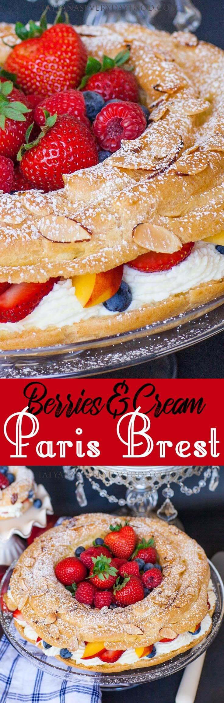 Berries & Cream Paris Brest video recipe