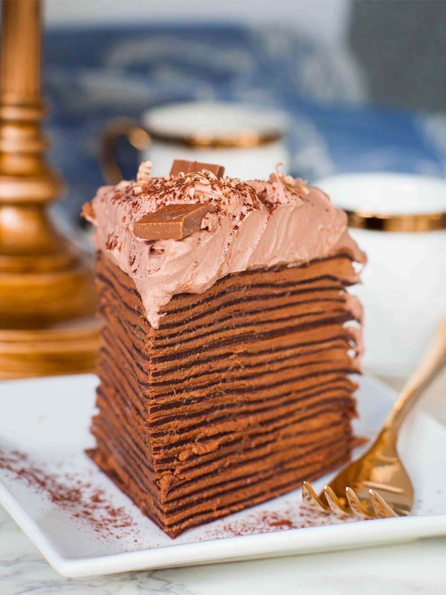 Triple Chocolate Crepe Cake Recipe Video Tatyanas Everyday Food
