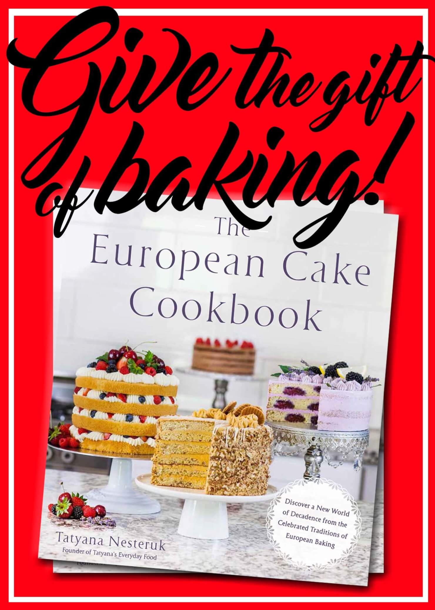 The European Cake Cookbook gift promo