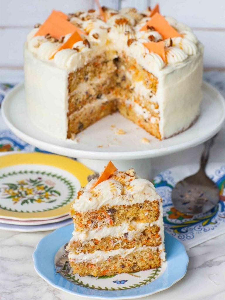 pineapple pecan carrot cake recipe for Easter