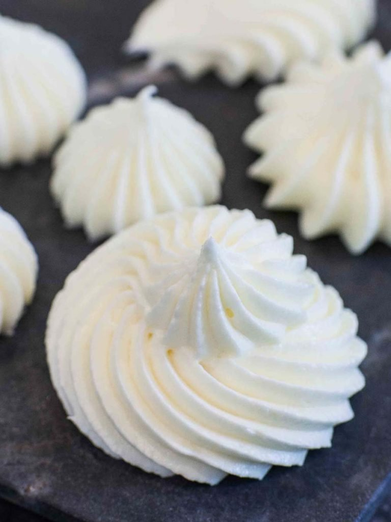 dollop of cream cheese frosting