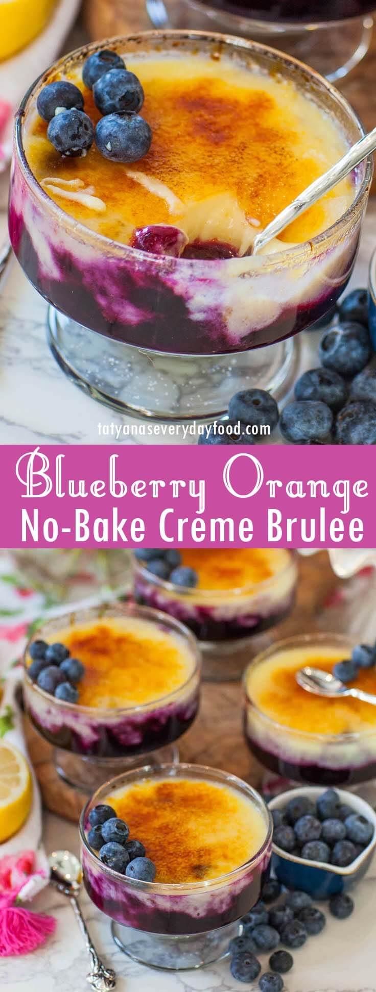 No-Bake Blueberry Orange Creme Brulee video recipe