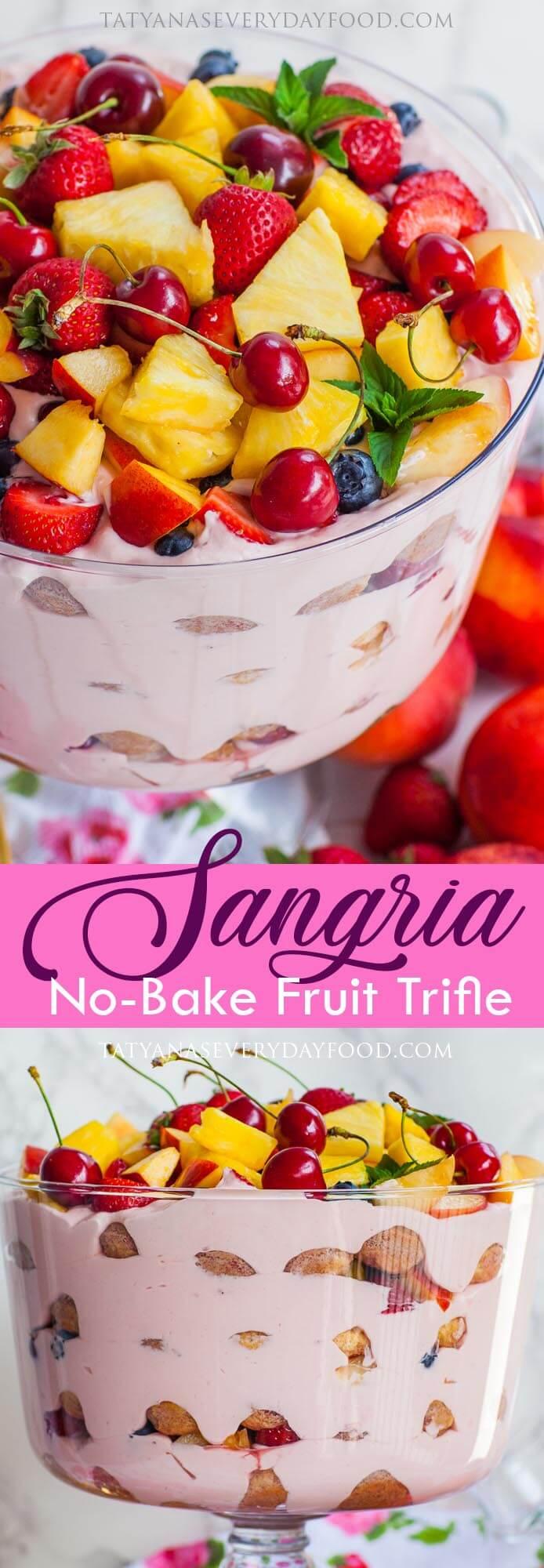 No-Bake Sangria Fruit Trifle video recipe