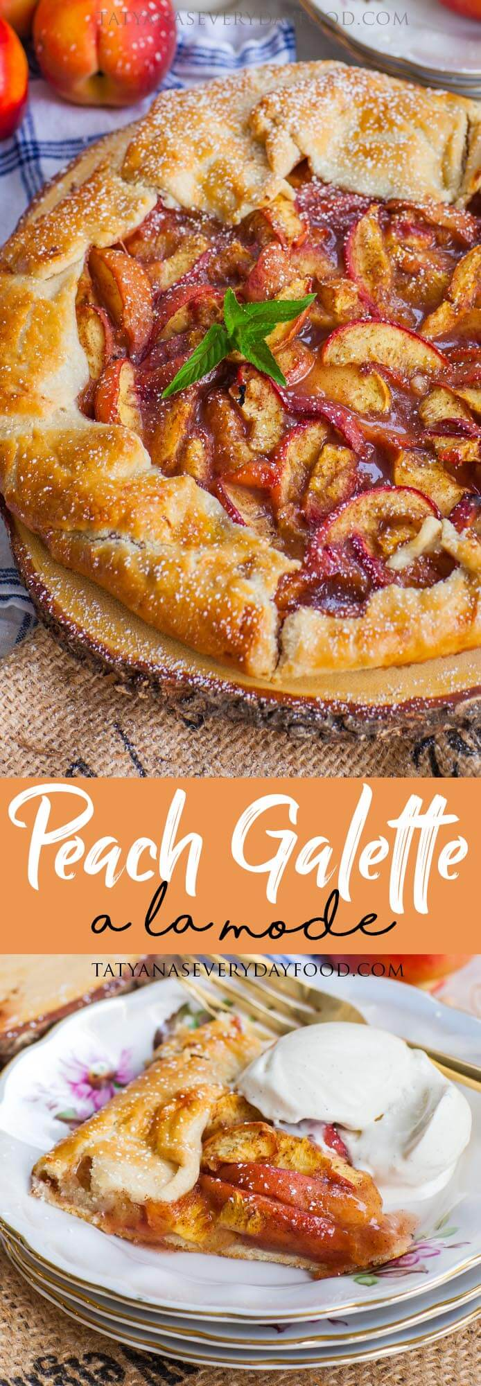 Easy Peach Galette A La Mode video recipe