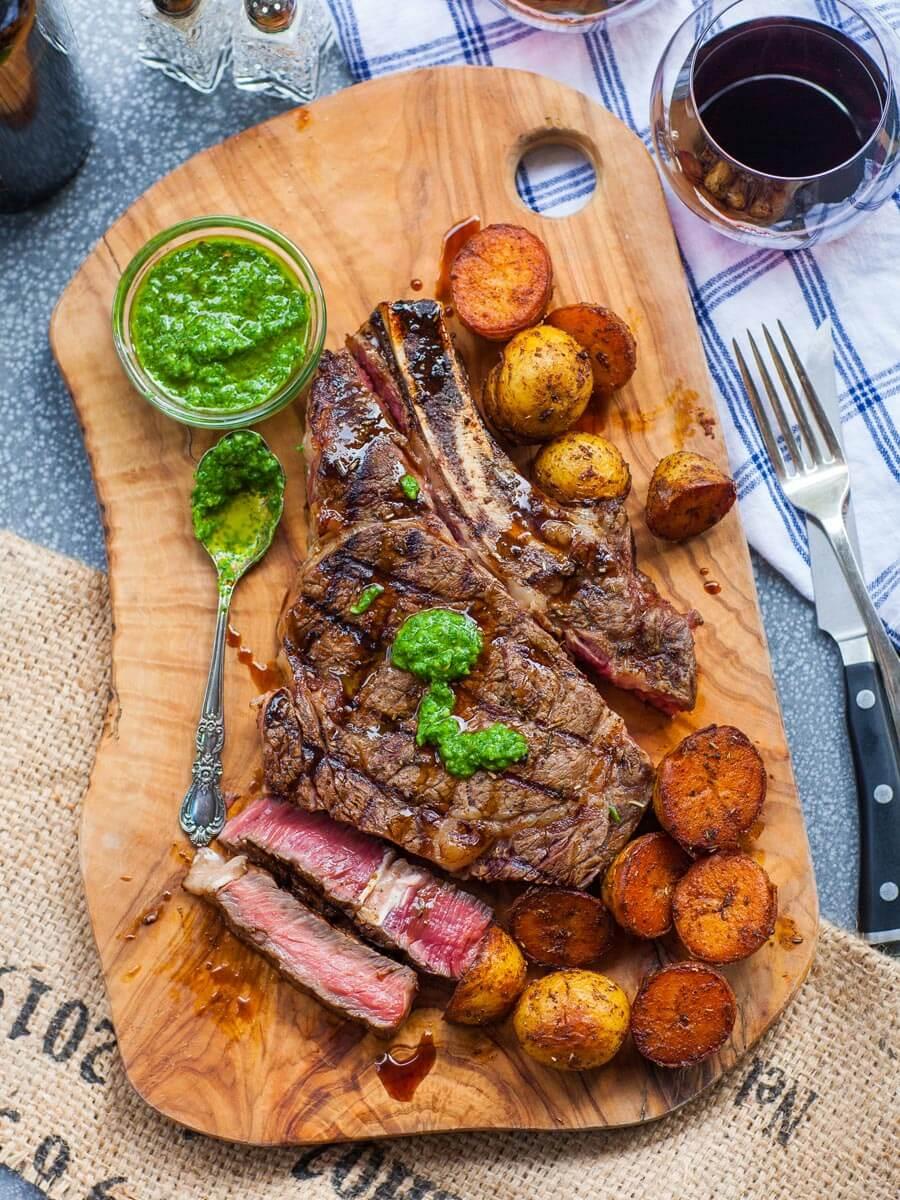 Grilled Ribeye Steak Dinner Video Tatyanas Everyday Food