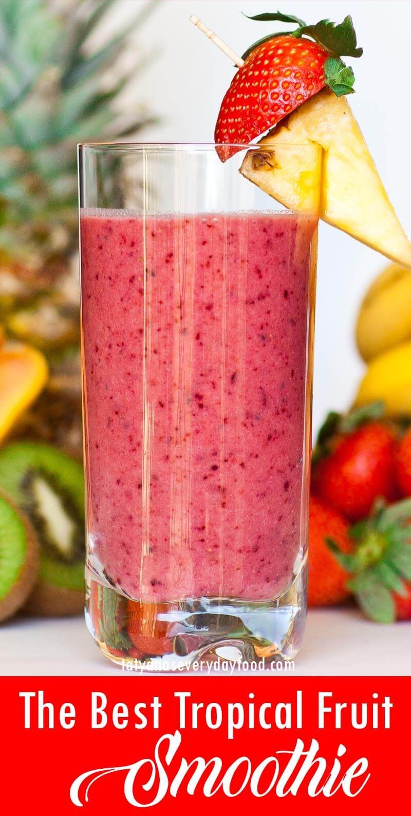 The Best Tropical Fruit Smoothie video recipe