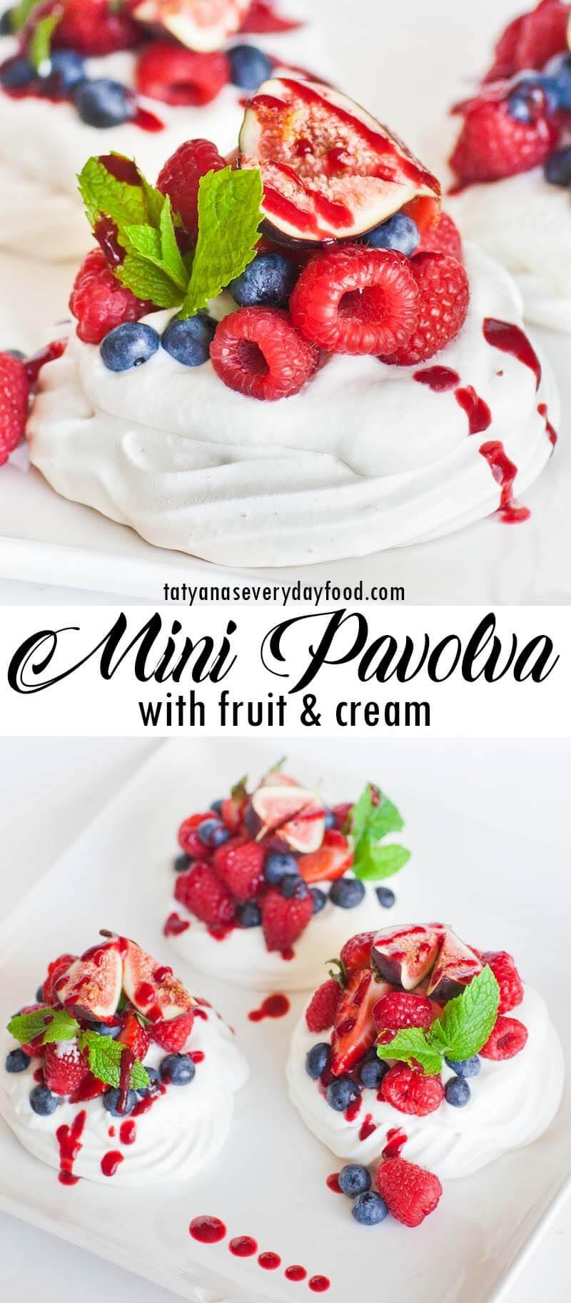 Mini Fruit Pavlova recipe