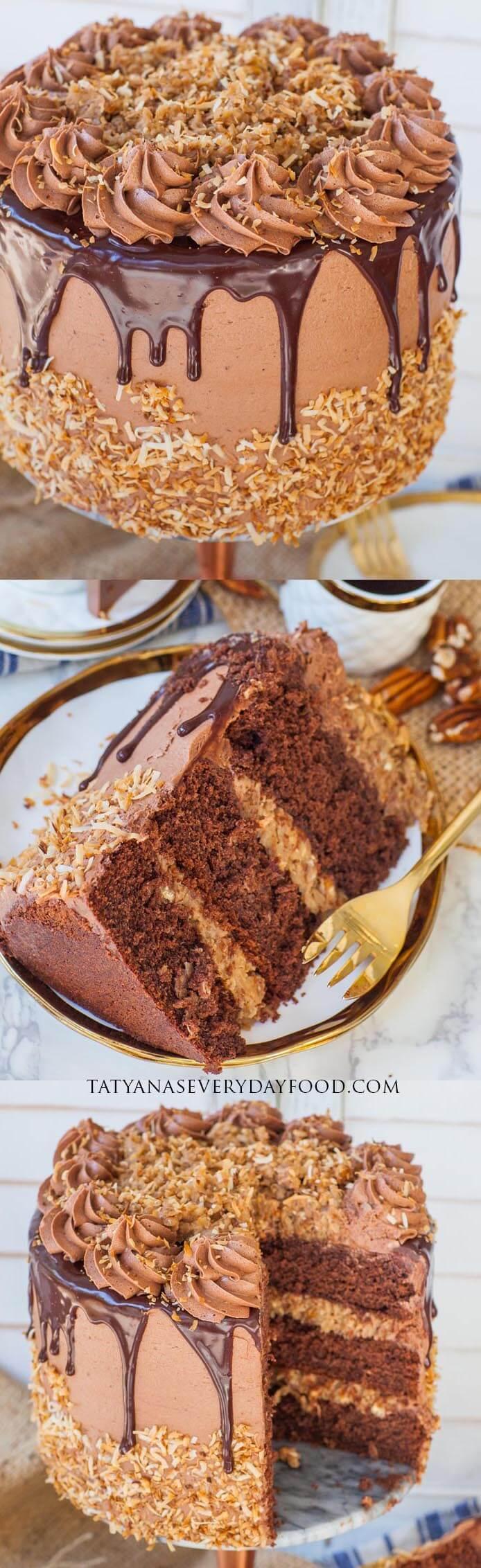 The BEST German Chocolate Cake video recipe