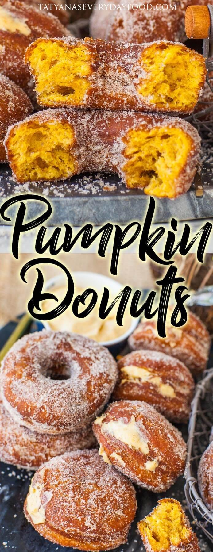Amazing Pumpkin Donuts 2 Ways (video)