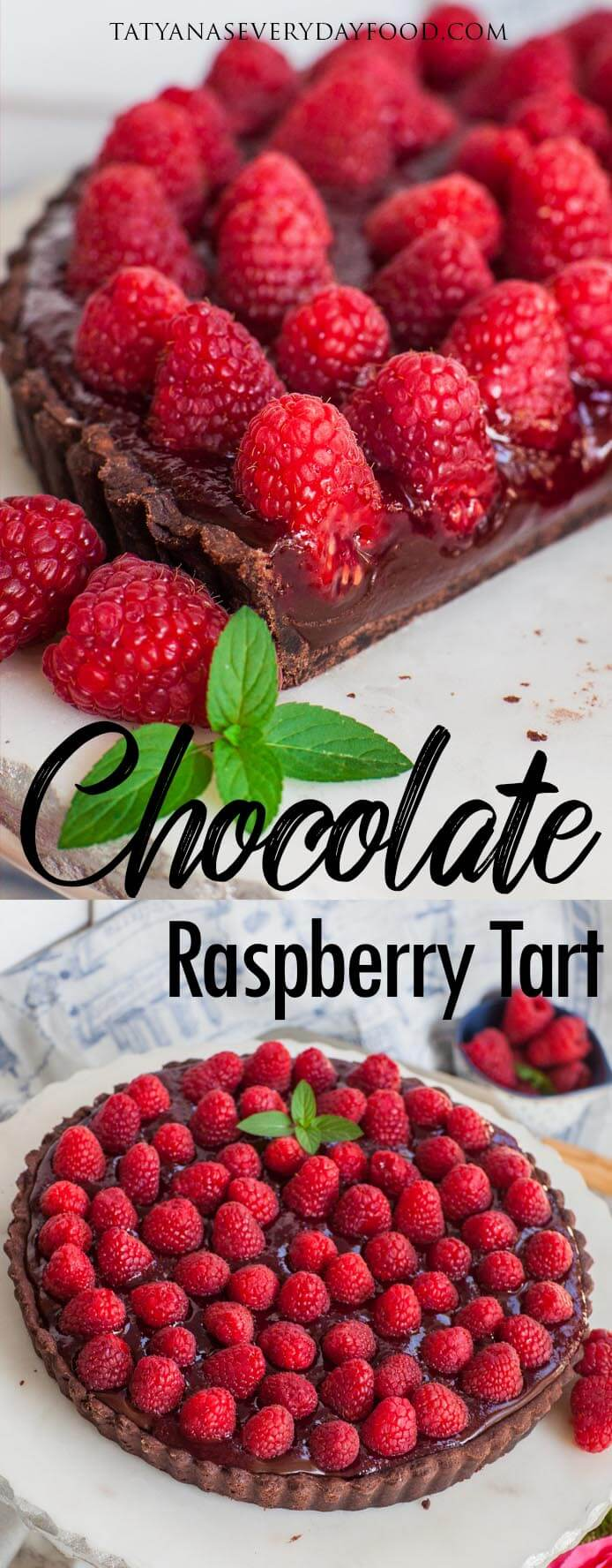Caramel Chocolate Raspberry Tart with video recipe