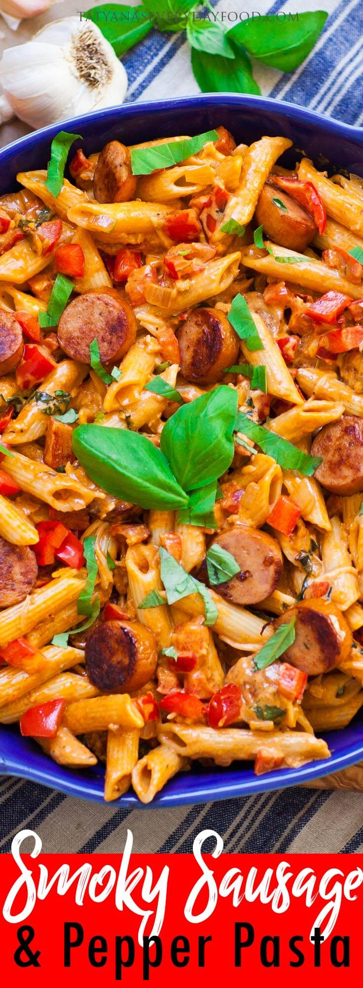 Smoky Pepper & Sausage Pasta with video