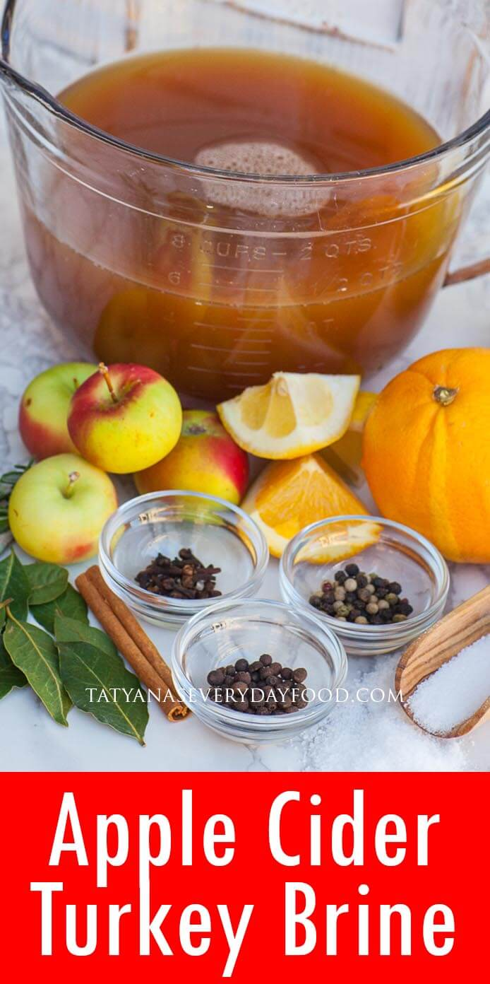 Apple Cider Turkey Brine video recipe