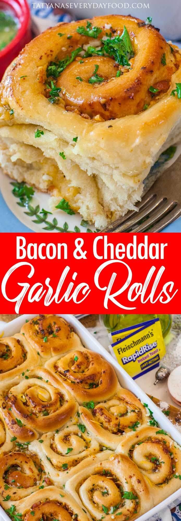 Bacon & Cheddar Garlic Rolls video recipe