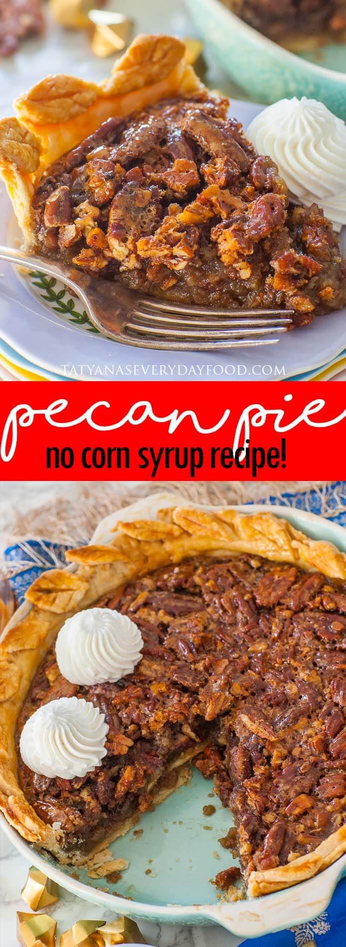 Classic Pecan Pie video recipe - no corn syrup!