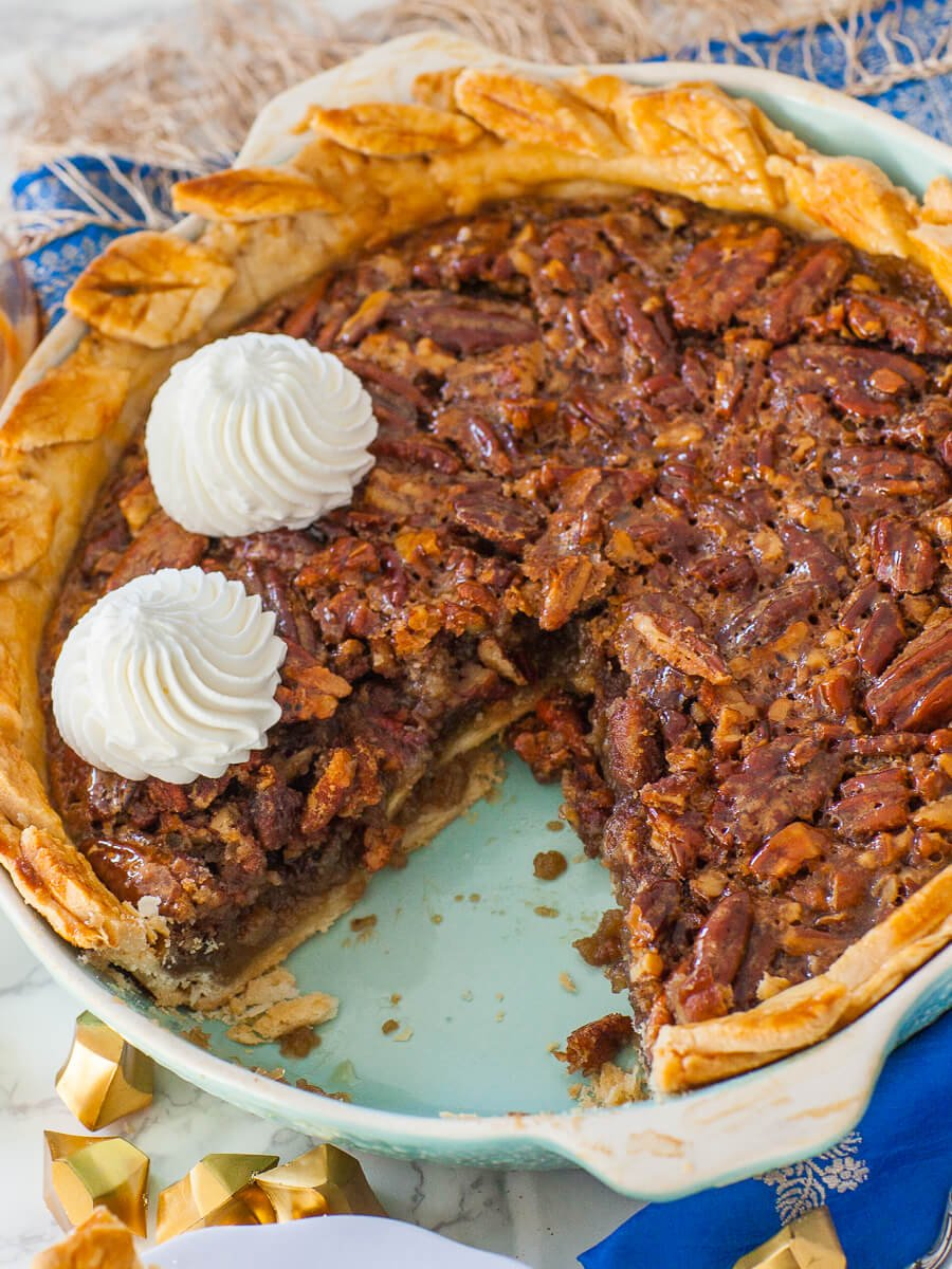 Classic Pecan Pie Recipe No Corn Syrup Video Tatyanas Everyday Food