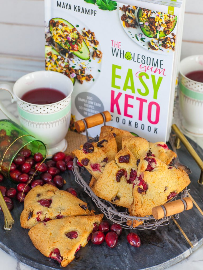keto cranberry orange scones from The Wholesome Yum Easy Keto Cookbook