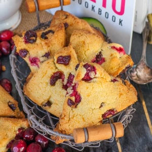 keto cranberry scones with orange zest