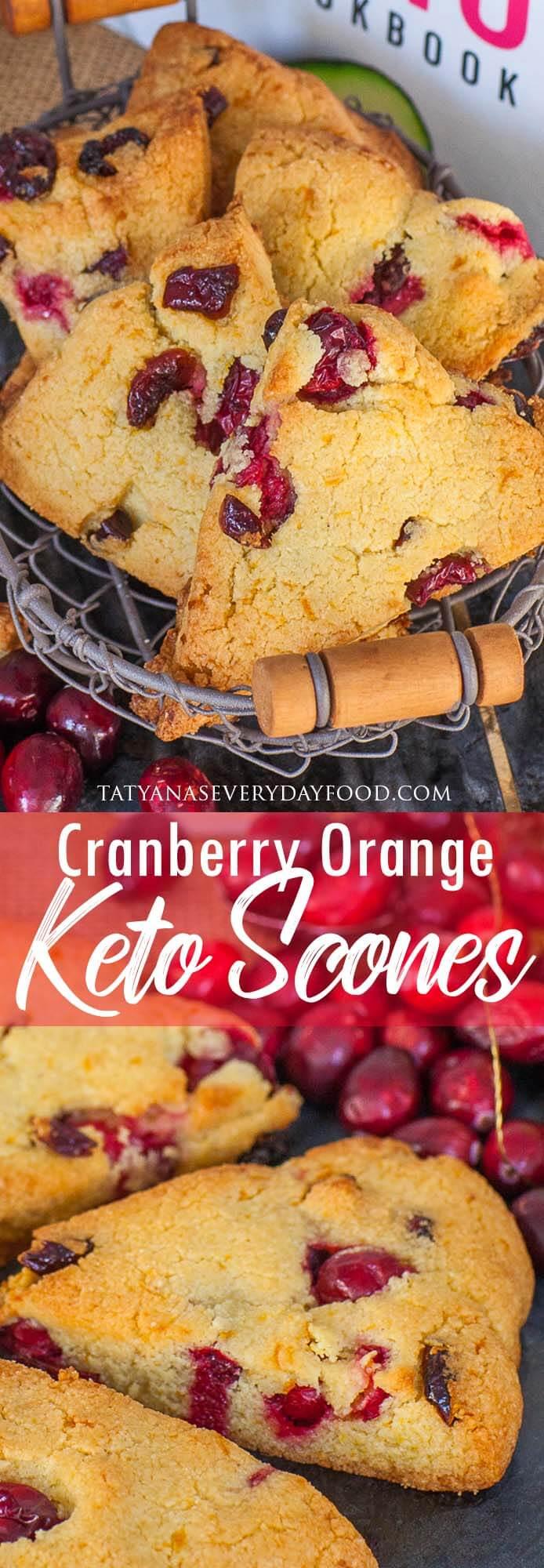 Keto Cranberry Orange Scones recipe
