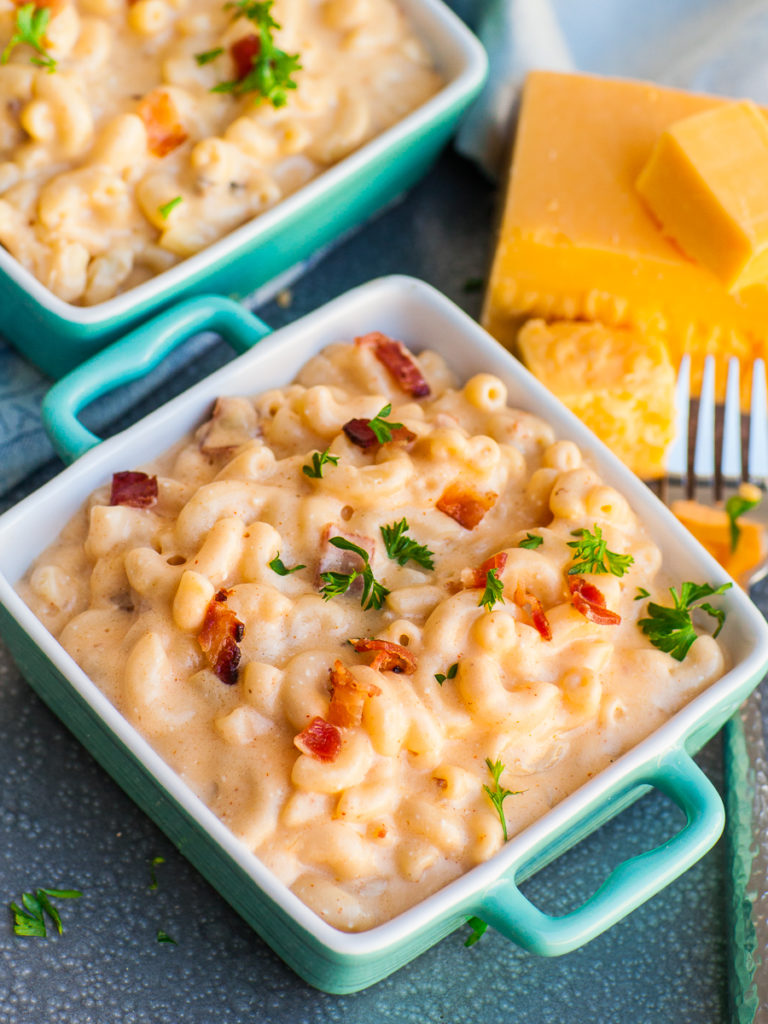 best comfort food mac and cheese recipe with bacon