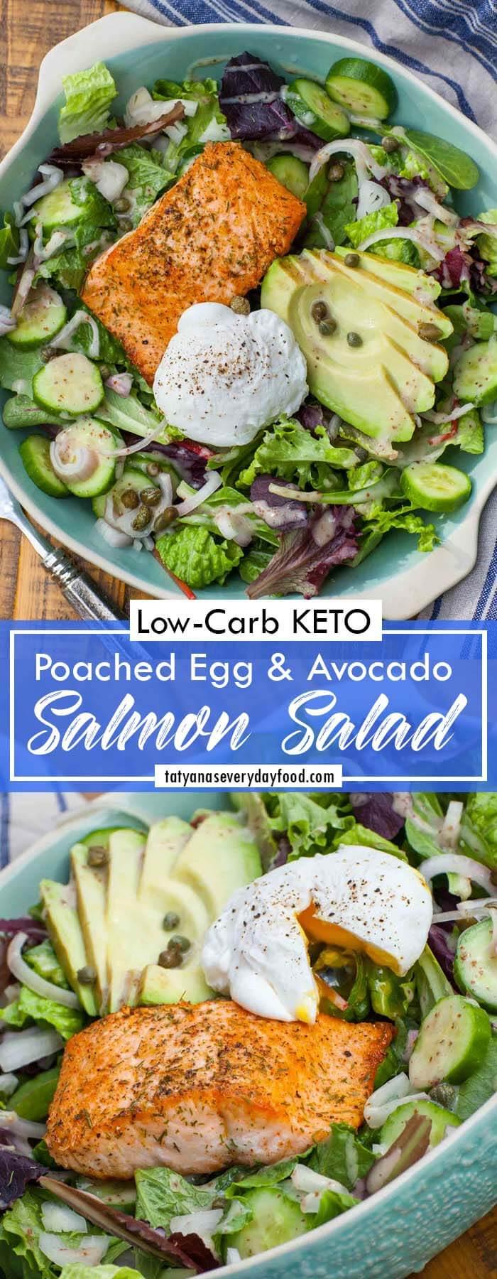 Egg & Avocado Salmon Salad Recipe
