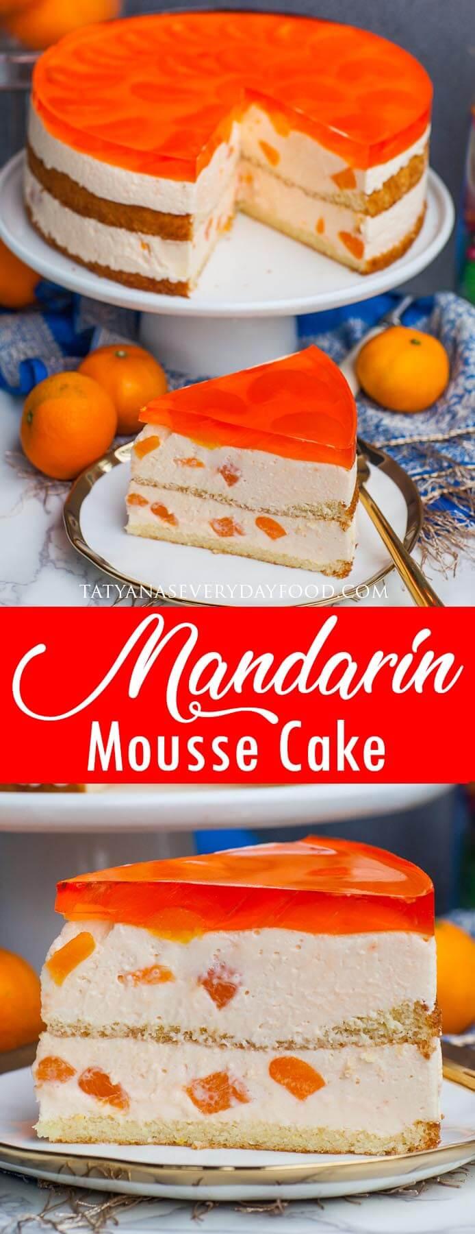 Mandarin Mousse Cake video recipe