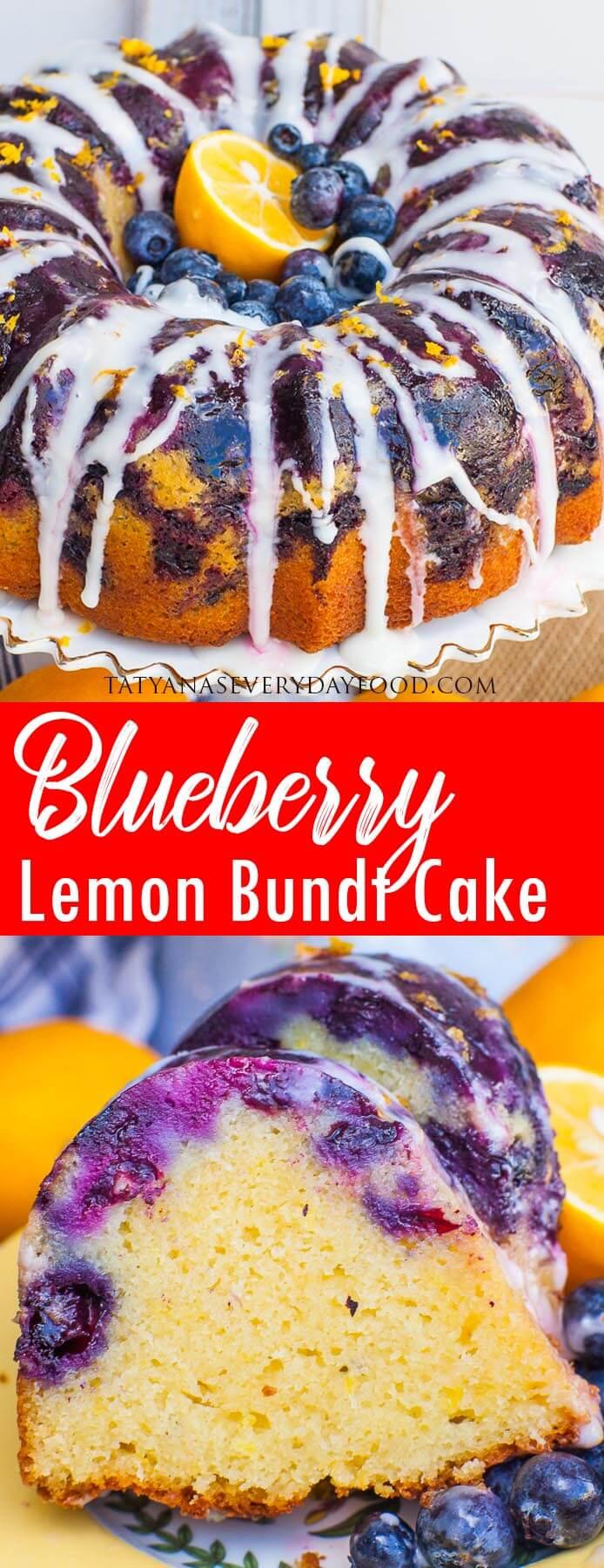 EASY Blueberry Lemon Bundt Cake video recipe