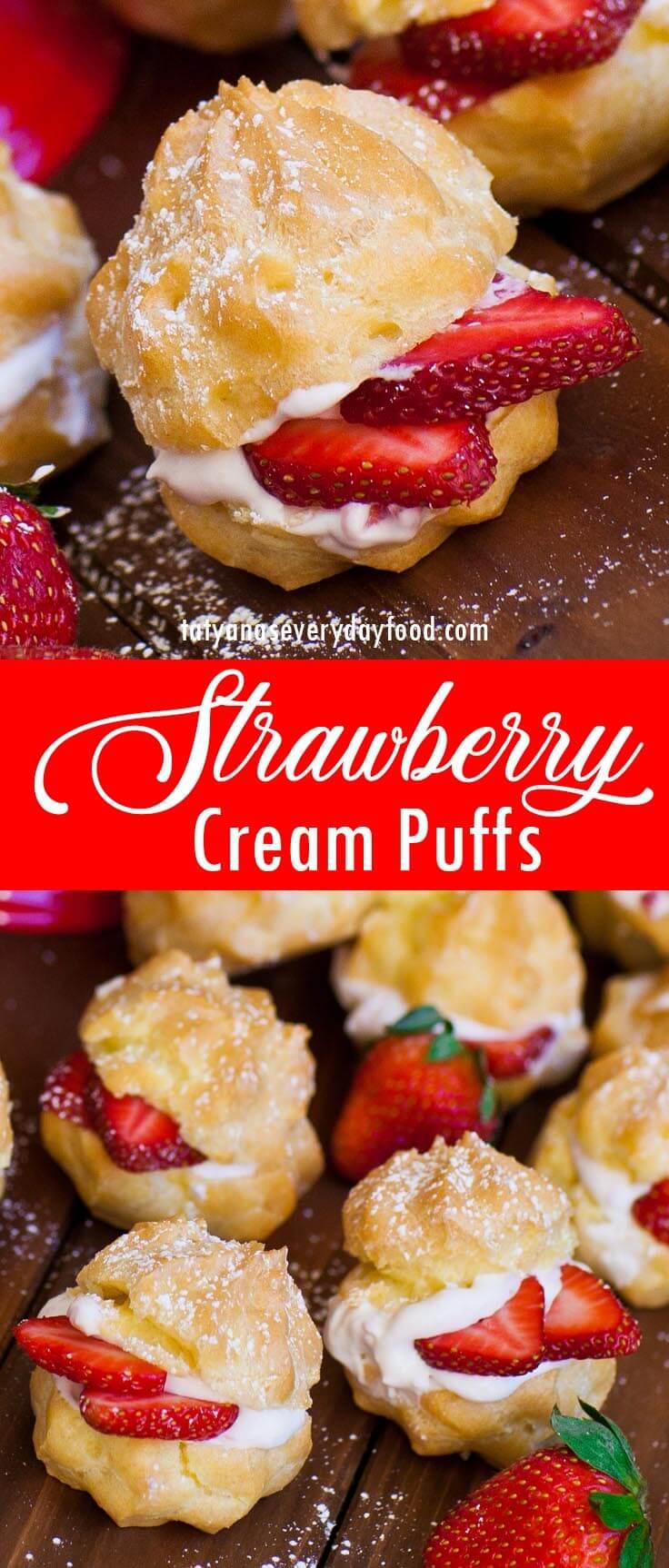 Strawberry Cream Puffs video recipe