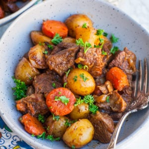 beef roast dinner with potatoes; lamb roast dinner with potatoes