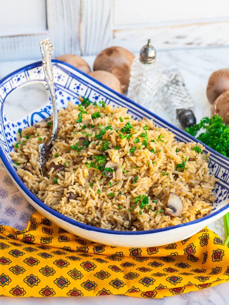 easy mushroom rice recipe with chicken broth