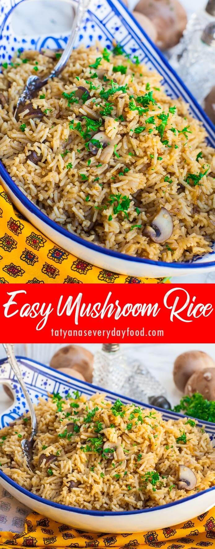 Easy Mushroom Rice video recipe