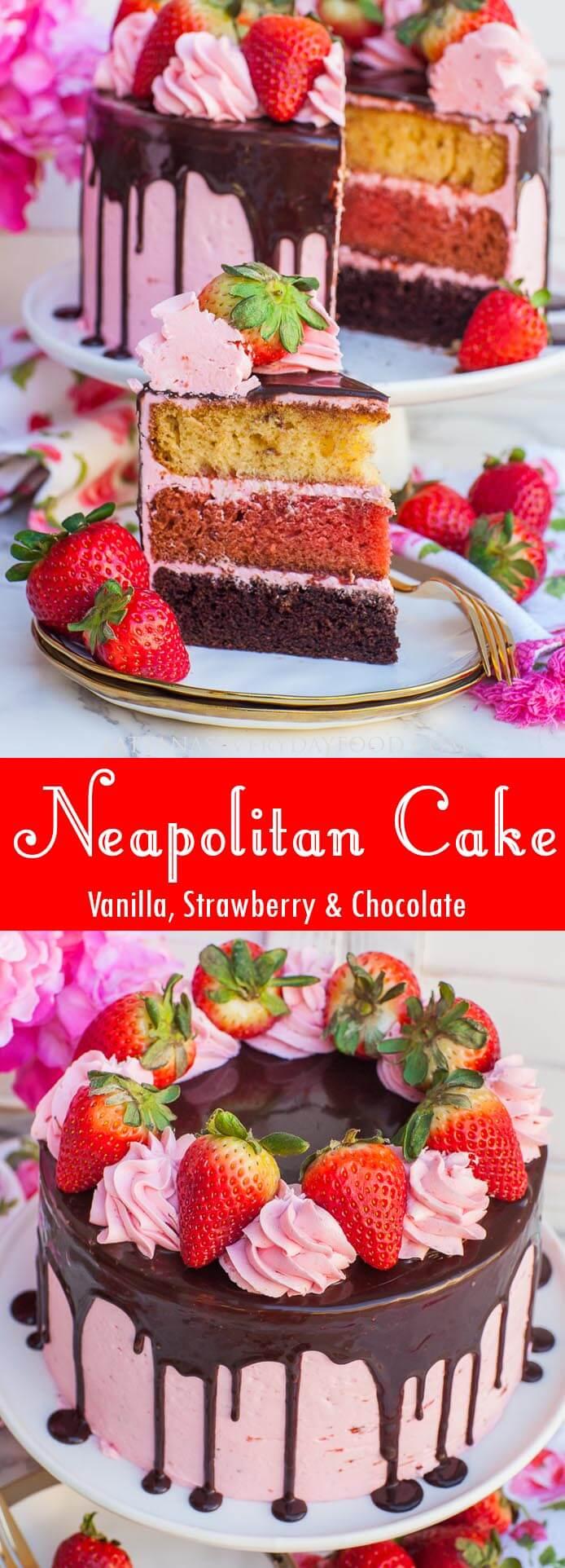 Neapolitan Cake video recipe