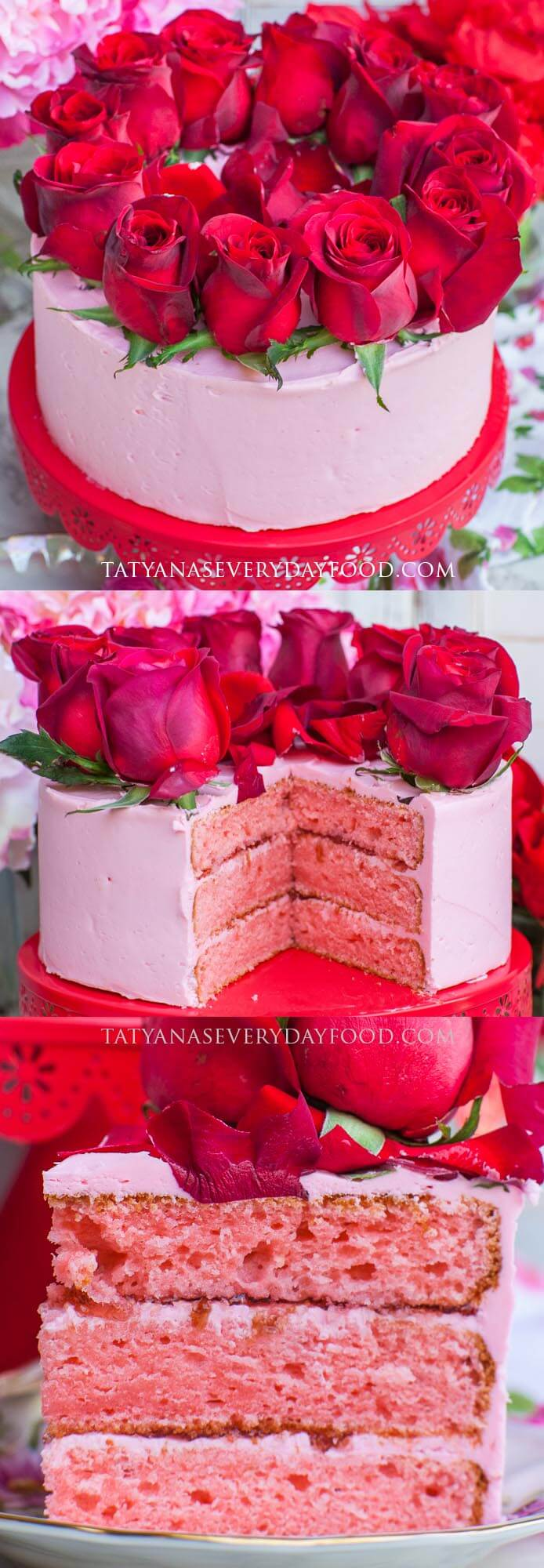 Rose Cake video recipe - Valentine's Day Cake