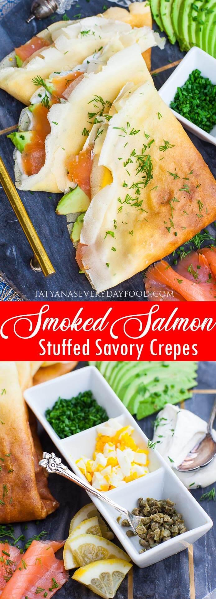 Smoked Salmon Savory Crepes video recipe - Brunch recipe idea