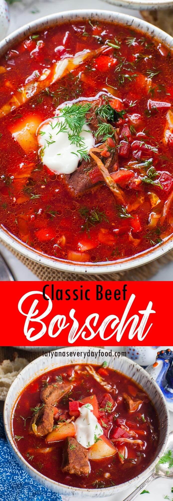 Classic Beef Borscht video recipe from Beyond Borscht cookbook
