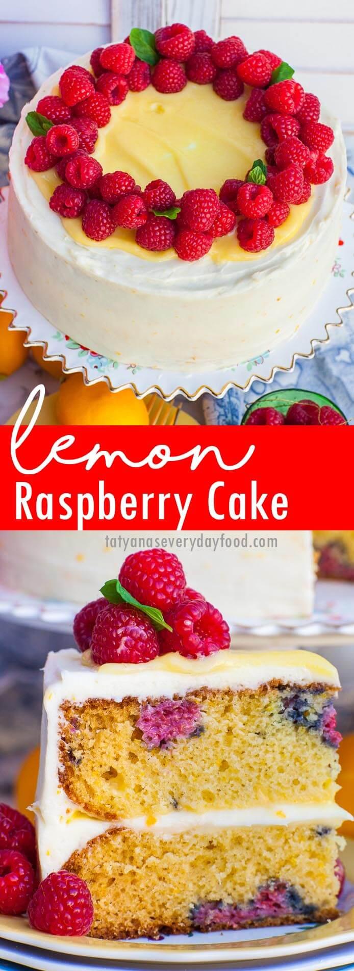Lemon Raspberry Cake video recipe
