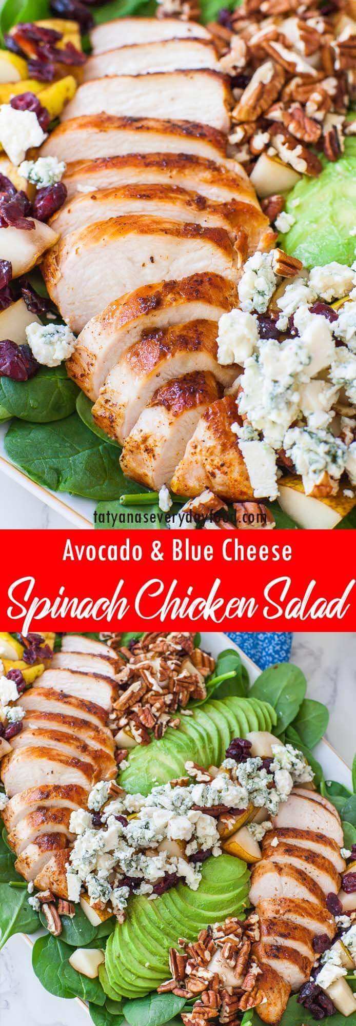 The Best Spinach Chicken Salad video recipe